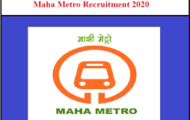 Maharastra Metro Rail Recruitment 2020 – Apply Online for Manager Posts